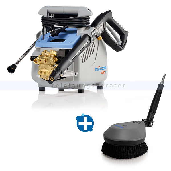 Kränzle K 1050 P Hochdruckreiniger im Waschbürsten SET BRUSH tragbarer Hochdruckreiniger im Set mit Waschbürste BRUSH 495014+12800