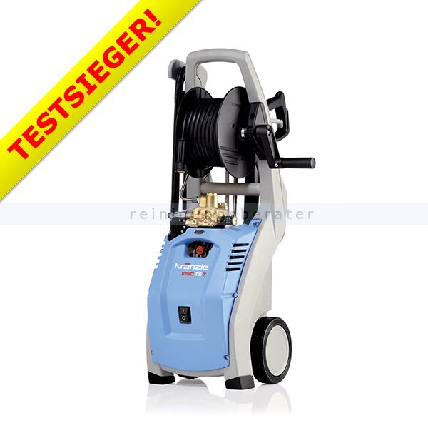 Kränzle 1050 TS T Hochdruckreiniger mit Schlauchtrommel mit Schmutzkiller, Jet Lanze und 12 m Schlauchtrommel 495101