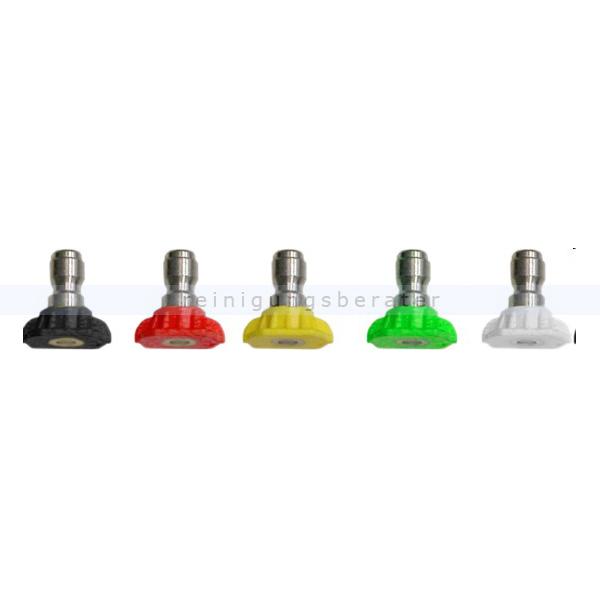 Lavor Düsenset 5-teilig Hochdruckreiniger Zubehör Größen 0,15,25,40 Foam, für Lanze mit Schnellkupplung 5.012.0298