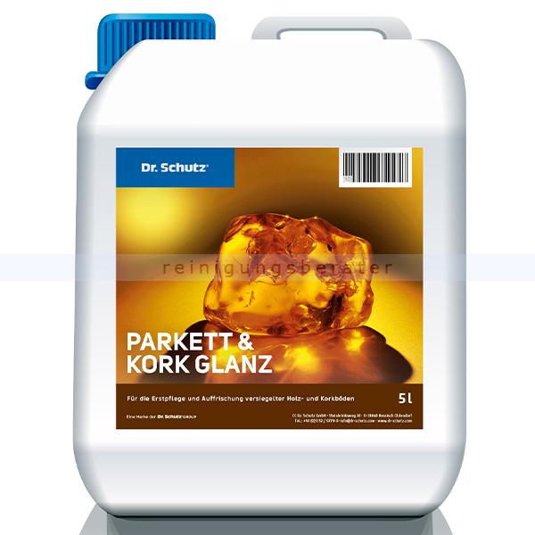 Holzbeschichtung Dr. Schutz Parkett und Kork Glanz 5 L Pflege für Holz- und Korkböden 2012000505