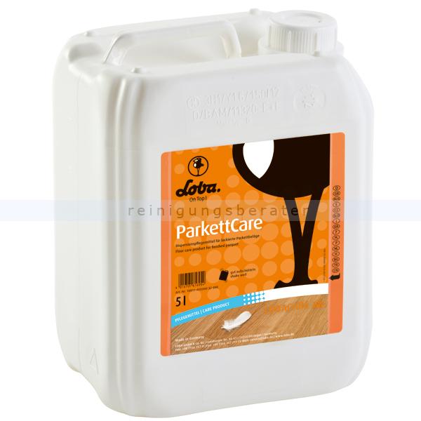 Holzbeschichtung LOBA® ParkettCare 5 L gebrauchsfertiges Pflegemittel für Parkett- und Holzböden 100114-22