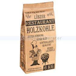 Holzkohle Lübzer Restaurantholzkohle 6 kg