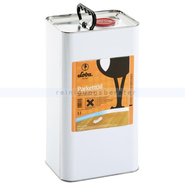 Holz-Öl LOBA® ParkettOil 5 L klassisches Pflegeöl für offenporige Holzböden 104614-22