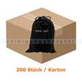 Hotel Schuhbeutel neutral aus Baumwolle schwarz, 200 Stück