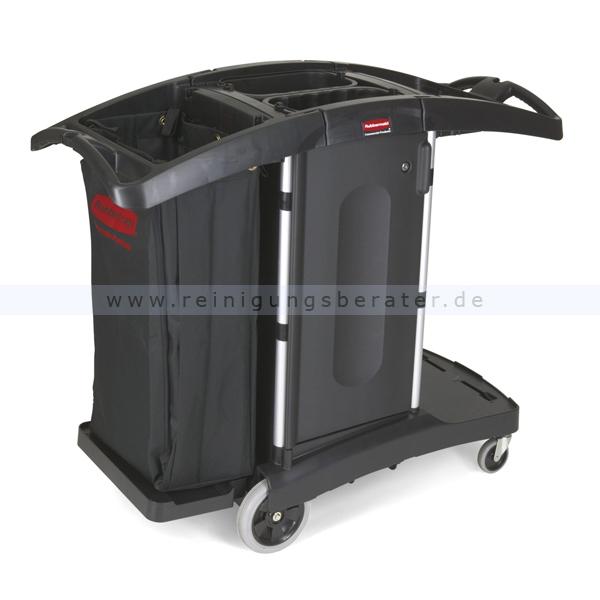 Hotelwagen Rubbermaid Kompakt mit Türen Schwarz