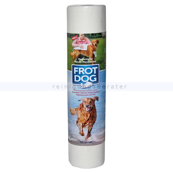 Hundehandtuch Fripa FROT DOG - saugstark, reißfest, 60 Stück Tissue Einmal-Handtücher für Hunde und andere Haustiere 5375201