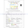 Hygiene Kontrollset Clean Card® Pro Testprotokoll