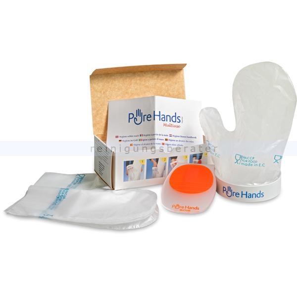 reinigungsberater Pure Hands Lebensmittelhandschuh Gürtel-/Wandmodell 5x Lebensmittelhandschuh, HACCP gemäß, hygenisch, einfach 320.100.101