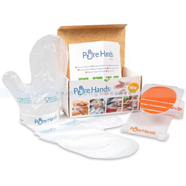 reinigungsberater Pure Hands Lebensmittelhandschuh Tischmodell 5x Lebensmittelhandschuh, HACCP gemäß, hygenisch, einfach 320.100.001