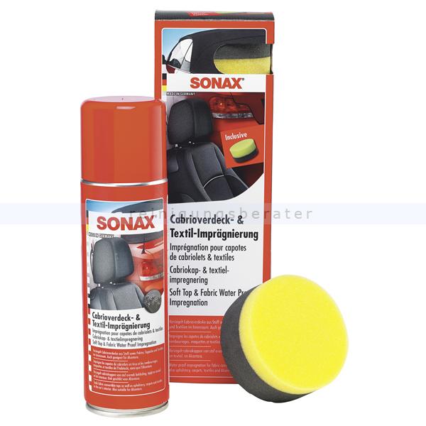 SONAX Cabrioverdeck- & Textilimprägnierung 300 ml Versiegelung und Imprägnierung für Cabrioverdecke 03102000