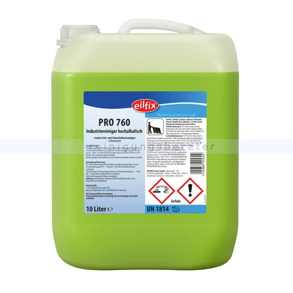 Becker Chemie Eilfix Pro-760 Industriereiniger 10 L Industriereiniger für starke Verschmutzungen 100076-010-000