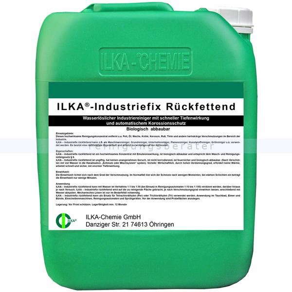 ILKA Chemie ILKA Industriefix rückfettend 10 Liter Kanister wasserlöslicher Industrie- und Maschinenreiniger 0815010