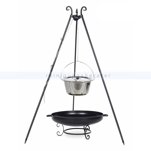 farmcook gulaschkessel edelstahl 14l dreibein viking e00665. Black Bedroom Furniture Sets. Home Design Ideas