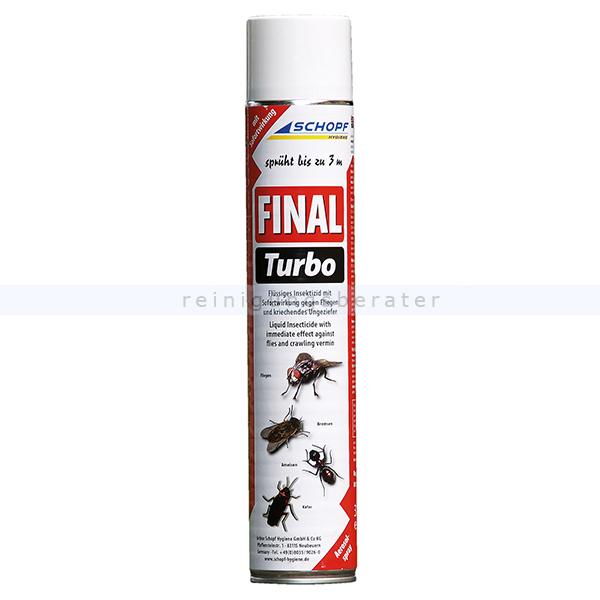 Schopf Hygiene Insektenspray Schopf FINAL Fliegen Turbo Spray 750 ml flüssiges Insektizid mit Sofortwirkung, sprüht bis zu 3 m 301198