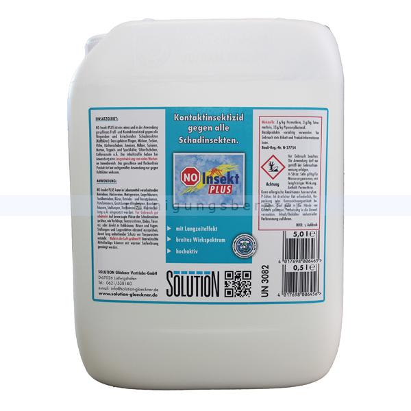Insektenvernichter Solution Glöckner NO-Insekt Plus 5 L Fraß- und Kontaktinsektizid gegen Ameisen, Blattläuse usw. 0067