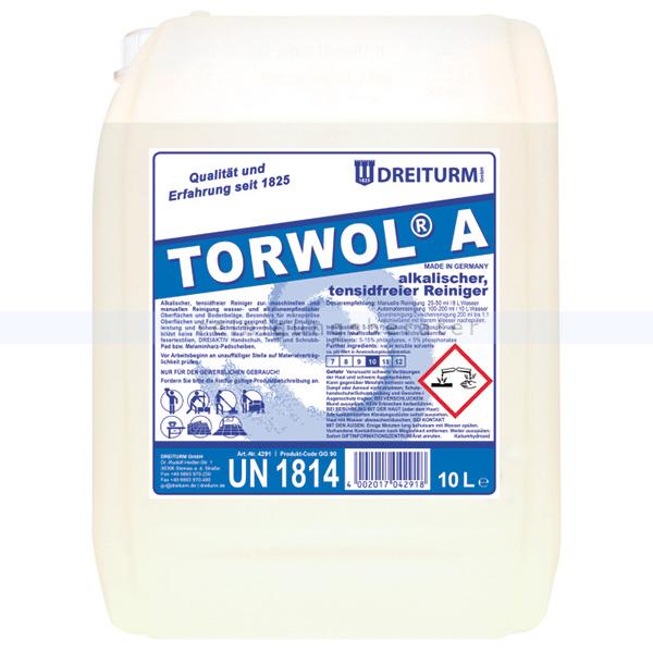 Dreiturm Torwol A 10 L alkalischer tensidfreier Intensivreiniger 4291