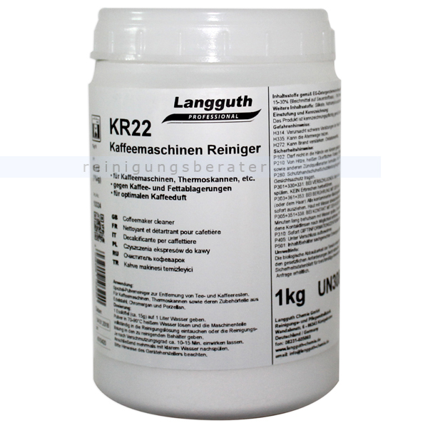 Kaffeemaschinenreiniger Langguth KR22 1 kg