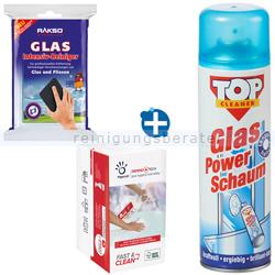 Kaminscheibenreiniger Set 5 RAKSO Glas Intensiv Pad 3-teilig