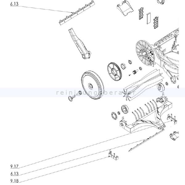 Haaga 452234 Set Dichtlippen das Set ersetzt die Einzelbestandteile