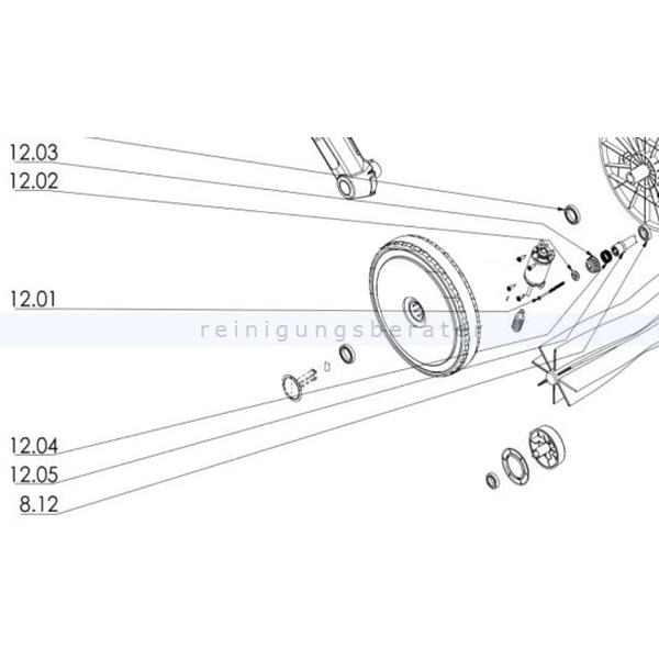 Haaga 452333 Set E-Antrieb KW 6XX das Set ersetzt die Einzelbestandteile