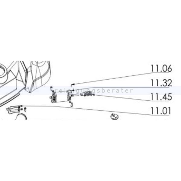 Haaga 459103 Set Motor Tellerbesen das Set ersetzt die Einzelbestandteile