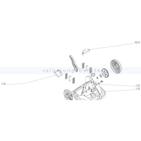 Haaga 452258 Set Rahmen X77 das Set ersetzt die Einzelbestandteile