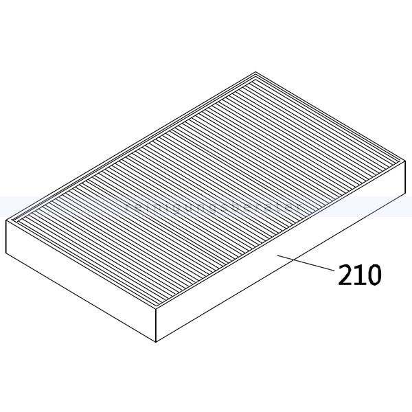 Kehrmaschinen Zubehör Stolzenberg Luftfilter für Kehrmaschine KSE 910 100223