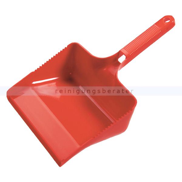 Kehrschaufel Haug eckig rot Schaufel 22 cm breit, geeignet nach HACCP & lebensmittelecht 1771