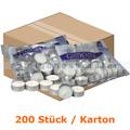 Kerzen Gastro Line Teelichter weiß 10 h 200 Stück Karton