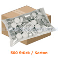 Kerzen Gastro Line Teelichter weiß 8 h 500 Stück Karton