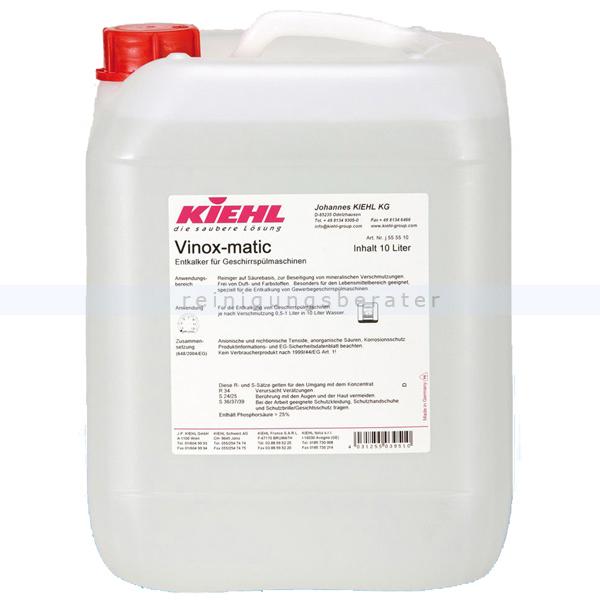 Kiehl Vinox-matic 10 L Entkalker für Geschirrspülmaschinen j555510