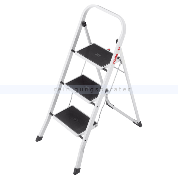 Haushaltsleiter Klapptritt Stehleiter Leiter 2 Stufen Haltebügel weiß bis 150kg