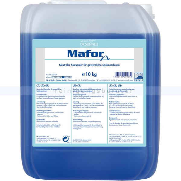 Dr. Schnell Mafor N 10 kg Klarspüler Absolut geschmacksneutral 20107