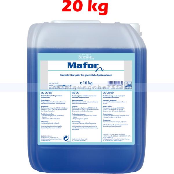 Dr. Schnell Mafor N 20 kg Klarspüler Absolut geschmacksneutral 20106