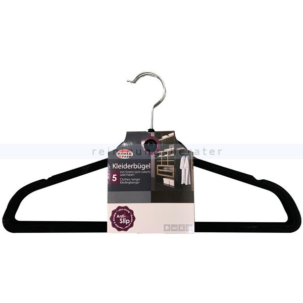 Kleiderbügel Reinex Bügel mit Strebe 5-teilig Sehr stabiler und rutschfester Kleiderbügel 13055