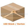 Kleiderbügel Simex Konfektionsbügel helles Holz 100 Stück