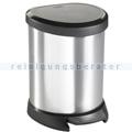 Kosmetikeimer Curver Decobin Treteimer silber schwarz 5 L