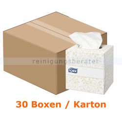 Kosmetiktücher Tork Spenderwürfel 20,9 x 20 cm weiß 30 Boxen
