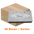 Kosmetiktücher Wepa weiß 100er Box, 40 Boxen im Karton
