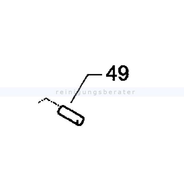 Kränzle 50111 Mitnahme für Zahnrad-Antrieb für Kehrmaschine Kränzle 2+2