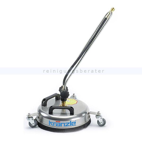 Kränzle 41105 Terrassenreiniger Round Cleaner light 300 mm Bodenreinigungsgerät aus Edelstahl mit Hochdruckdüsen