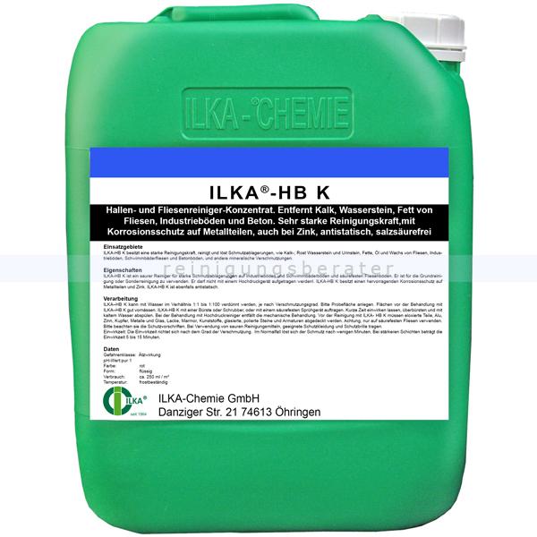 ILKA Chemie ILKA HB-K 10 Liter Kanister Hallen- und Fliesenreiniger-Konzentrat 0727010