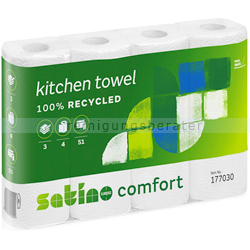 Küchenrollen Wepa Comfort 3-lagig, weiß 26x23 cm 4 Rollen