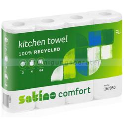 Küchenrollen Wepa Satino Comfort 2 lagig weiß 4 Rollen