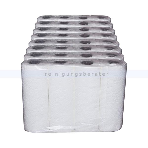 Küchenrollen Zellstoff 2-lagig weiß 26 x 22,5 cm Großpaket