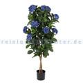 Kunstpflanze Hortensie Blau Grün, Blau