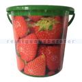 Kunststoffeimer Bekaform Dekor Eimer Erdbeere 10 L