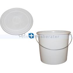 Kunststoffeimer Bekaform Eimer Plast weiß 10 L mit Deckel