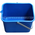 Kunststoffeimer Meiko blau mit Ausgußtülle, eckig, 9 L