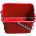 Kunststoffeimer Meiko rot mit Ausgußtülle, eckig, 9 L